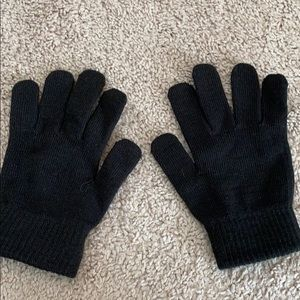 Dark brown gloves stretchy one size never worn